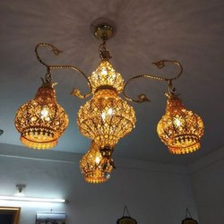 Brass Ceiling Crystal LED Hanging Chandelier for Decoration