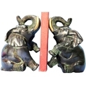 Elephant Bookend Pair Statue