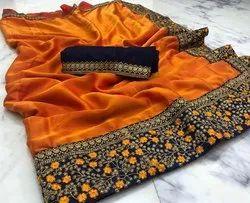 Sana Silk Embroidered Saree For Women
