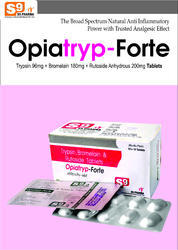 Trypsin 96mg   Bromelain 180mg   Rutoside 200mgTrypsin 96mg   Bromelain 180mg   Rutoside 200mg