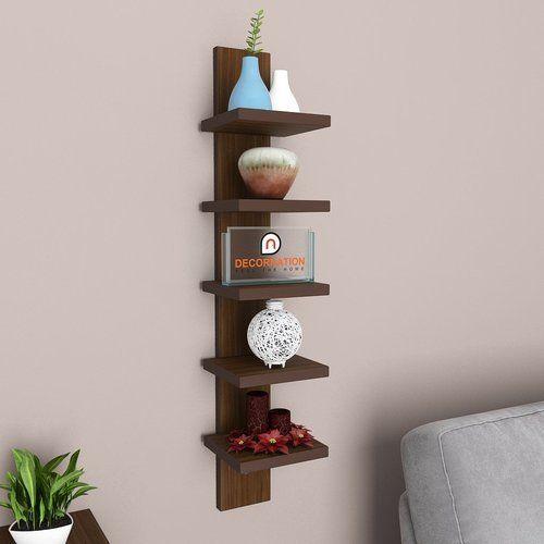 decornation wall mounting set 5 tier shelf - walnut at rs 1299 /unit Attach Shelf to Wall