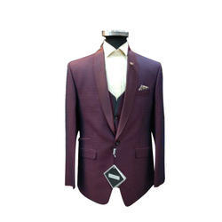 Purple Men Trendy Suit