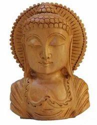 Wooden Buddha Head