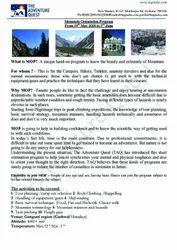 Gangotri-gomukh-tapovan (mop) Trekking Tour