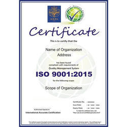 ISO 9001:2015 Certification & Consultancy Service