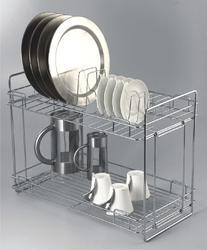 Double Layer Foldable Kitchen Organizer  Racks