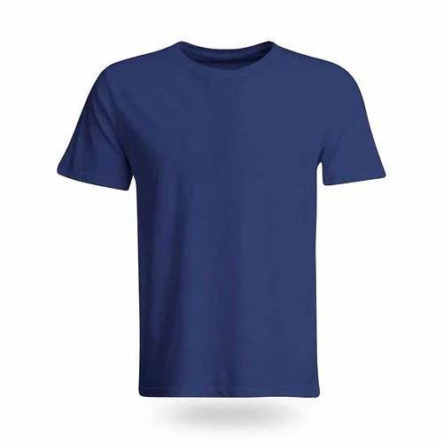f3e23fe09 Dark Blue Half Sleeves Plain T Shirt, Rs 130 /piece, Gokak Textiles ...