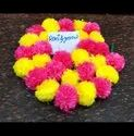 Combo Yellow Hot Pink Artificial Marigold Flower Decoration Garland