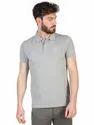 Cotton Polo Neck Grey T-shirt