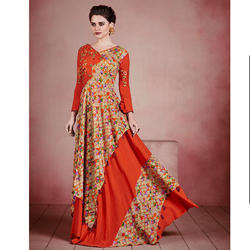 Cotton Karigari Stylish Look Embroidered Gown
