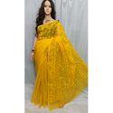 Yellow Dhakai Jamdani Saree