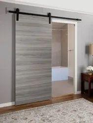 Polyline Grey Sliding PVC Flush Door
