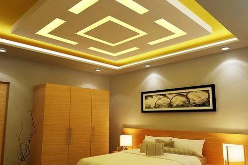 Modern False Ceiling Bedroom Gypsum Ceiling Manufacturer from Pune