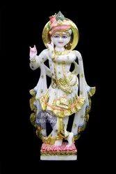Raj Creations Marble Krishna Statue