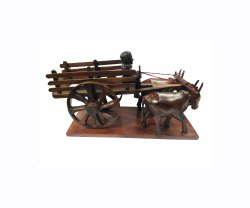 Brown Wooden Bullock Cart
