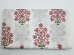 Handmade Hand Block Printed Mul Cotton Fabric For Dress Material