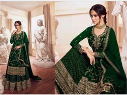 Eid Green Embroidered Lehengas
