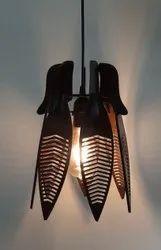LED Brown MDF Hanging Chandelier