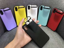 Plastic Apple iPhones 2 In 1 Case (Airpod Mobile), For Safety And Style