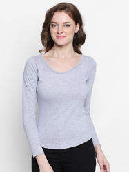 Women Round Neck Full Sleeves Cotton T- Shirt