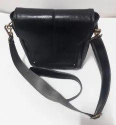 Men Black PU Leather Messenger Bag