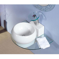 Ceramic Wall Mounted Table Top Bowl Wash Basin, For Bathroom