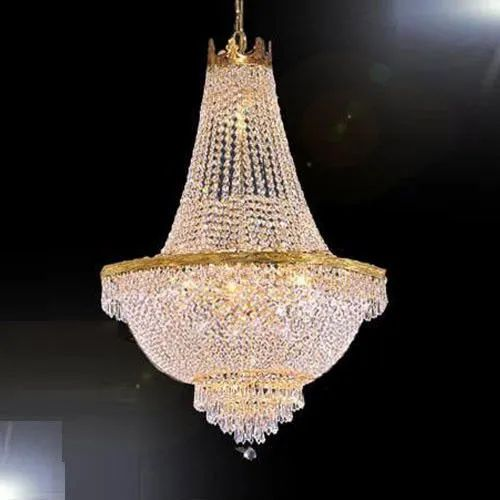 Brass and Glass Wall Hanging Designer Hanging Chandelier