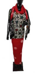 Hand Block Printed Chanderi Suit