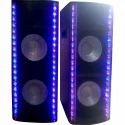 Pxo Sonic Rectangular Double Speaker Usb Bluetooth Fm Kara0ke