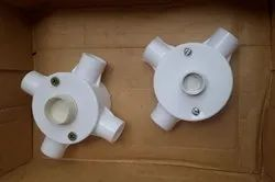 PVC Junction Box for Electrical Fitting, Size: 3/4 To 1 Inch (Hole Dia)
