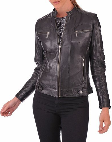 8e3836272 Luis Leather Black   Burgundy Womens Tough Solid Genuine Lambskin ...