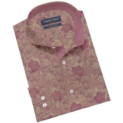 Charles Dino Cotton Mens Printed Readymade Shirt