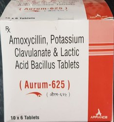 Amoxycillin, Potassium Clavulanate & Lactic Acid Bacillus Tablets, Packaging Size: 10x6 Tablets, Packaging Type: Strip