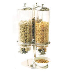 Cereal Dispenser Triple Jar