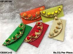 Embroidered Multicolor Multicolour Gifting Envelope