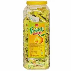 Hard Candy Round Juju Frooti Mango Toffee, Packaging Type: Plastic Jar