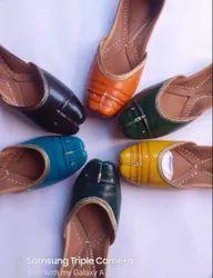 Women Genuine Leather Multicoloured Punjabi Mojari Jutti