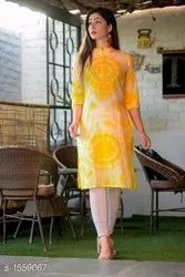 Cotton Festivle Wear Hand Tye Dye Kurtis, Wash Care: Machine wash