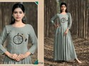 Muslin Silk Handwork Party Wear Kurti