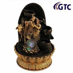 Lord Radha Krishna Waterfall Decorative Home Gifts - (ITN-7120B)