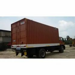 Light Steel Dry Container Truck Mounted Container, Capacity: 1-10 ton
