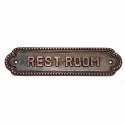 Rest Room Brass Sign
