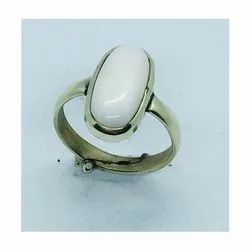 White Coral Safed Moonga Ring