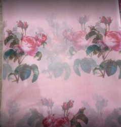 Printed Pink Salwar Suit Fabric