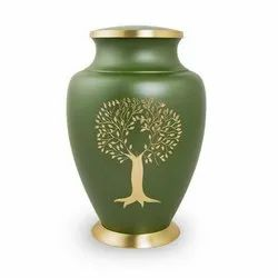 Tree Print Brass Cremation Urn