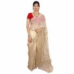 Heavy Work Chiffon Bridal Saree