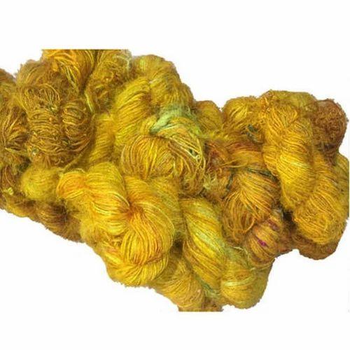 Yellow Recycled Sari Silk Yarn