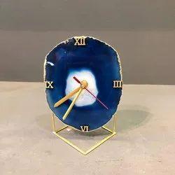 Plastic Blue Agate Clock