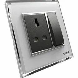 Vinay 16 A Polycarbonate Switch Socket Board, Model Name/Number: Corum, 220-240 V