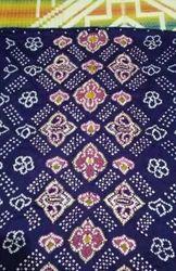 Blue Printed Bandhani Cloth